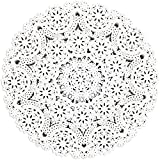300 Pack Round Paper Doilies, 10 inches Round Medallions Lace Placemats for Crafts & Wedding
