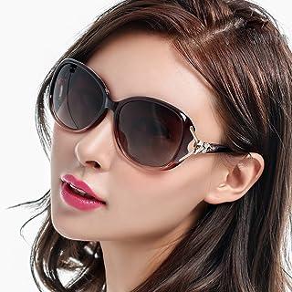 【2019最新】 サングラス レディース ファッション 小顔 クリア 大きい偏光レンズ 紫外線カット UV400カット