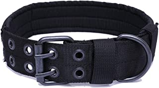 FEimaX Dog Collar for Medium and Large Dogs, Military Adjustable Nylon Dog Collars with Safety with Heavy Metal Buckle, Ca...