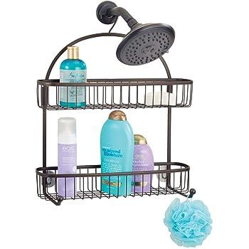 mDesign Estantería de ducha para colgar – Prácticos estantes para ...
