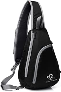 Chest Sling Shoulder Backpacks Bags Crossbody Rope Triangle Rucksack for Hiking