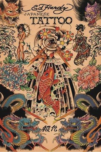 ED HARDY POSTER JAPANESE TATTOO - Großformat (BxH): 61 x 91.5 cm