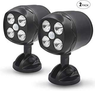 Ambaret LED Lights, Wireless 600 Lumen Battery-Operated Outdoor Wall Light Motion Sensor Activated LED Spotlight, Waterproof Security Lighting for Wall Garden Garage Pathway (2 Pack)