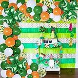 109 piezas Set decoración del día San Patricio - Kit arco guirnalda globos verde naranja blanco, globos trébol fiesta festival irlandés suerte, niños 1er 2do cumpleaños, baby shower, decoración hogar