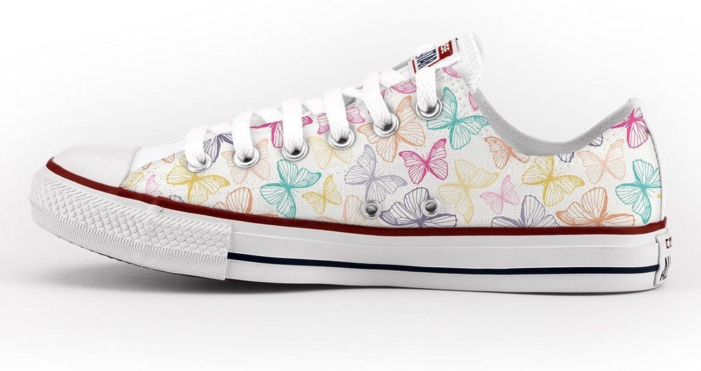 Converse All Star Personnalisé et Imprimés - chaussures à la main - produit Italien - colours butterflies