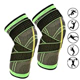 Ueasy 1 par de rodilleras de fitness transpirable para deportes, alivio del dolor en las a...