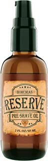 SALE - Bohemian Brothers Grooming. Reserve Pre-Shave Oil. Ultra Smooth Shaving. Prevent Nicks and Irritation. With Vitamin E and Avocado Oil. Vintage Barbershop Scented Shave Oil for Men (2 OZ).