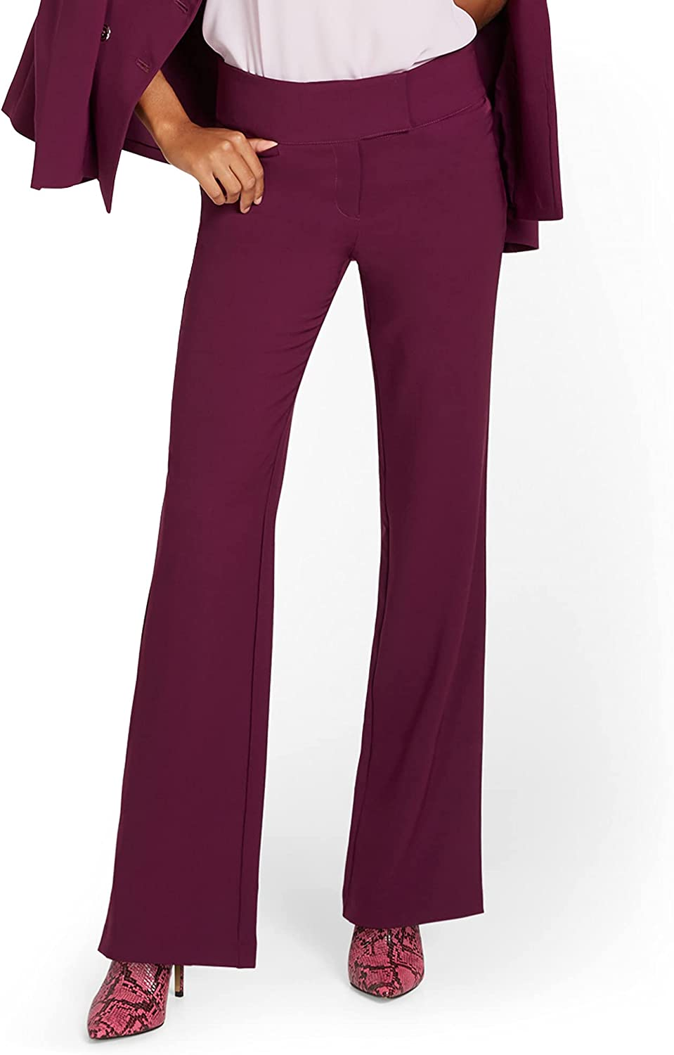 New York & Co. Women's High-Waisted Wide-Leg Pant - Premium Stretch