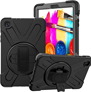 CCMAO Samsung Galaxy Tab A 8.4 Case, SM-T307 Case, [Hand Strap] 360 Degree Rotating Kickstand Full-Body Impact Resistant C...