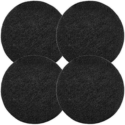 Chefarone Kohlefilter - 4 Ersatzfilter Komposteimer mit Deckel 5L - Biomüll Filter rund 17cm - schwarz