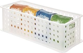 iDesign boîte de rangement à poignées, rangement salle de bain en plastique pour produits de beauté et cosmétiques, panier...
