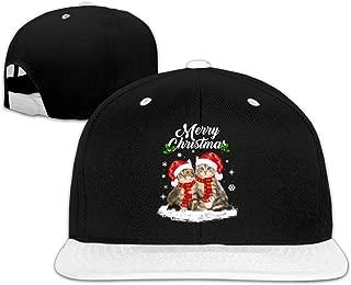 Merry Christmas Santa Claus Cats Hip Hop Snapback Baseball Cap Adjustable Men White