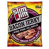 Slim Jim Bacon Jerky, Hickory Smoked Flavor, 2.75 Oz. Bag (Pack of 8)