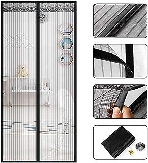HALOViE Magnet Fliegengitter Balkont/ür Magnetischer Fliegenvorhang Moskitonetz 100x210cm Automatisches Schlie/ßen Anti-Moskito-Vorhang ohne Bohren Schwarz