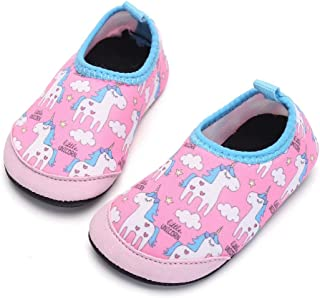MoreDays Kid Toddler Non-Slip Quick Dry Water Shoes Aqua Socks Shoes for Beach Swim Pool Baby Boys Girls