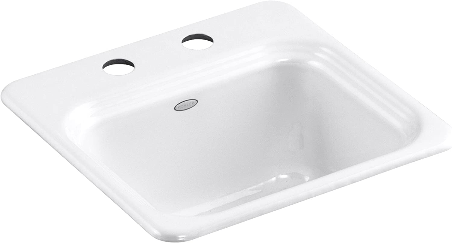 KOHLER K-6579-2-47 Northland Self-Rimming Entertainment Sink Almond