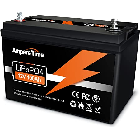 LiFePO4 Deep Cycle Battery 12V 100Ah with Built-in BMS, Perfect for Replace Most of Backup Power and Off Grid Applications…