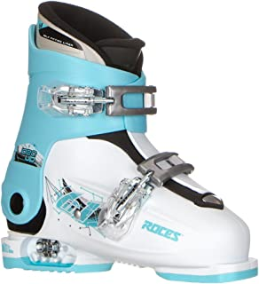 Roces Idea Up G Girls Ski Boots - 19-22/White-Light Blue-Black (2 Buckle)