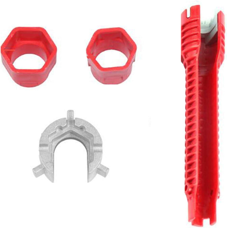 7 en 1 grifo y fregadero instalador, llave de grifo de grifo, llave de tornillo multiusos herramienta de fontanería para inodoro/fregadero/baño/cocina instalación de reparación