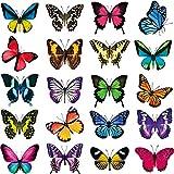 40 Piezas Pegatinas Calcomanías de Ventana Anti Choques de Mariposa Pegatinas Adhesivas de Vinilo No Adhesivo Prevenir Colisiones de Pájaros en Cristal