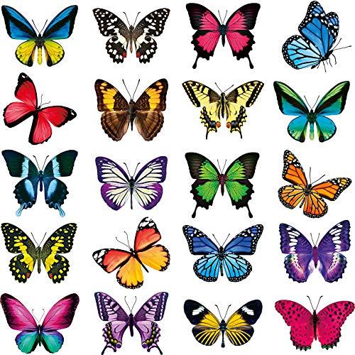 Frienda Groß Größe Schmetterling Fenster Aufkleber Anti-Kollision Fenster Abziehbilder Verhindern Vogelschläge auf Fenster Glas Nicht Klebend Vinyl Schmetterling Aufkleber (40)
