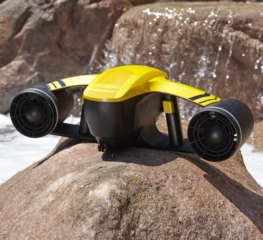 Scooter subacuático, Robot Explorer no tripulado Sumergible Eléctrico Impermeable Hélice de Doble Velocidad Buceo Booster Piscina Juguetes Natación Niños Recargable Canotaje