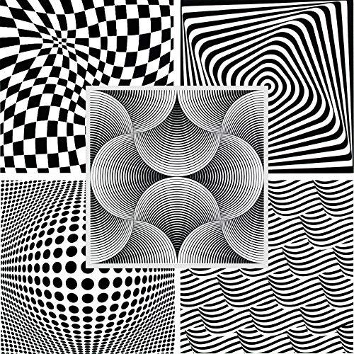 1 qm | Deckenplatten | Panorama Effekt | XPS | 50x50cm |Hexim | Shells Black