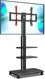 FITUEYES Mobile TV Stand Trolley Cart on Wheels for 32-70 Inch Floor TV Stand 3 Shelves with Cable Management Max. VESA 60...