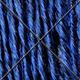 Doctored Locks Premade Synthetic Dreadlocks - Double Ended Hair Extensions - Natural Black/Dark Blue