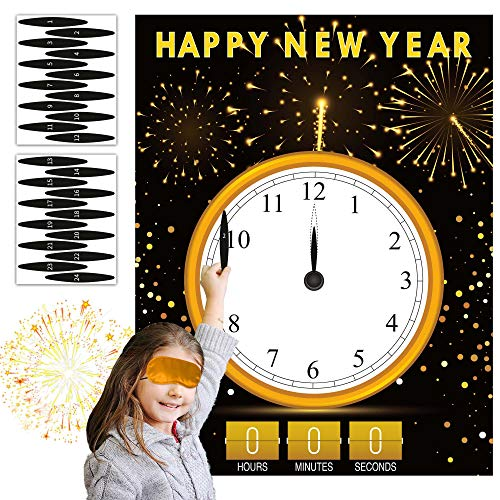 Joy Bang New Years Eve Games for Kids New Years Eve Party Supplies 2021 Happy New Year Decorations 2021 New Years Activities Clock Games for Happy New Year Party Favors