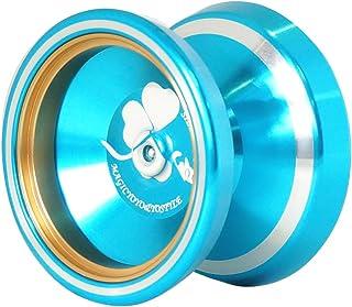3カラー選ぶ クール プロフェッショナル M001- B 合金 ヨーヨーボール ベアリング ストリング トリック キッド おもちゃ - 青, 説明したように