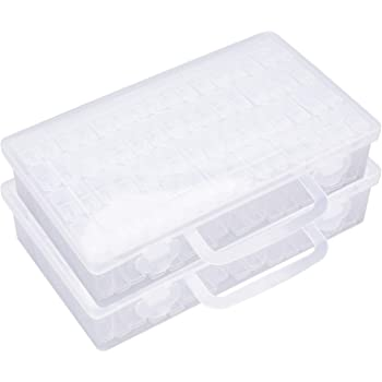 Amazon Com Tosnail 128 Clear Plastic Snap Tight Storage Containers For Diamond Painting Beads Sequins Nails Jewelry Making
