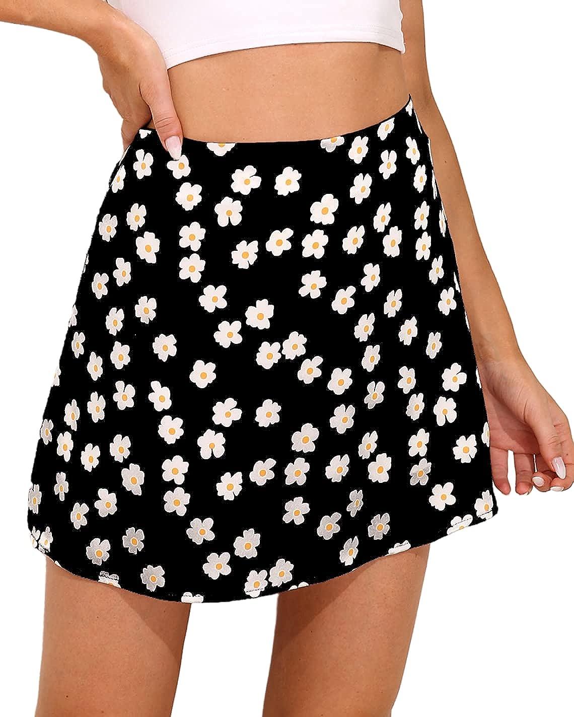 Sexyasasii Women's Max 87% OFF Casual Soft [Alternative dealer] Satin Leopard Sk Skirt Silk Print
