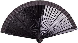 Sonnenscheinschuhe Schwarzer glänzender Handfächer aus Holz 23cm schwarz Fächer Flamenco