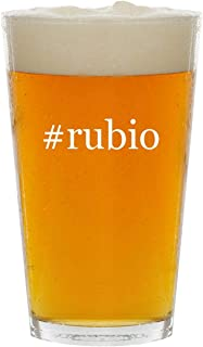 #rubio - Glass Hashtag 16oz Beer Pint