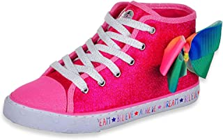 JoJo Siwa Girls Pink/Rainbow Hi Top Sneaker