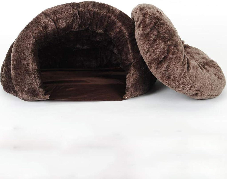 Cat Litter Winter Warm Closed Cat Sleeping Bag Cat Supplies Cat Mat Winter Four Seasons Universal Cat Nest (Size   S)
