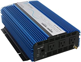 AIMS Power PWRI150048S 48V Pure Sine Inverter, 1500W Continuous Power, 3000W Surge Power, 48V DC Input, Pure Sine Wave, USB Port, Triple AC Receptacles, On/off Switch, OVer Temperature Indicator