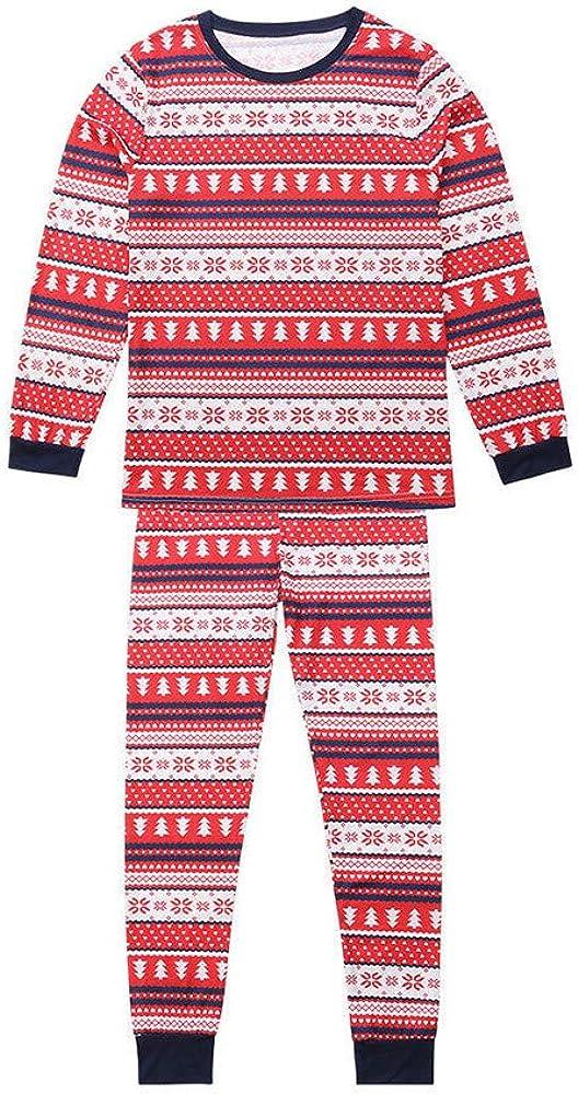 AKIMPE Men Daddy Snowflake Tops Blouse Pants Family Pajamas Matching Christmas Set Red