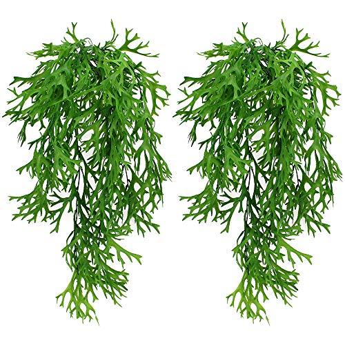 UBERMing 2 Piezas Artificial Hiedra Planta Colgante Planta Artificial Colgante Hojas en...