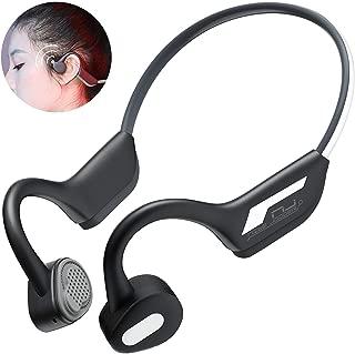Bone Conduction Headphones - Wireless Earbuds Bluetooth 5.0 Upgraded IP56 Waterproof Night Vision Sports Bluetooth Earphones w/Mic HD Stereo Sweatproof Premium Sound with Deep Bass for Sport