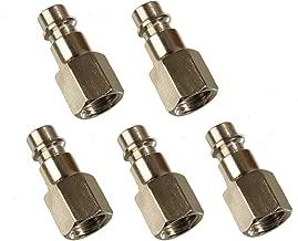 Her Kindness 4pcs Connettore per raccordi rapidi per tubo pneumatico linea pneumatica 8 mm 4 Fascetta per tubi in acciaio inossidabile