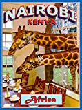 A SLICE IN TIME Nairobi Kenya Africa Giraffe Manor African Travel Advertisement Art Collectible Wall Decor Poster Print. Measures 10 x 13.5 inches