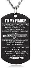 ZJFHTD to My Fiance Fiancee Dog Tag Necklace Future Husband Wife Boyfriend Girlfriend Valentine Gift-C5