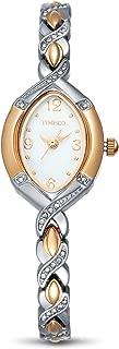 Time100 Women's WatchesBracelet Diamond Oval Dial Ladies Fashion Dress Quartz Wrist Watch