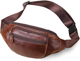 amerileather top grain cowhide leather belted fanny pack