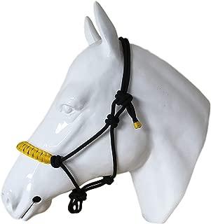 in pelle White Horse Equestrian Bianco cavallo equestre equitazione da allenamento con impugnatura morbida Draw Reins