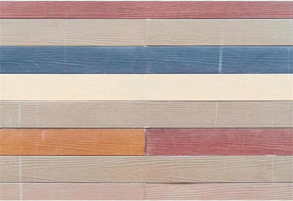 OERJU 12x10ft Vintage Colorful Wood Board Backdrop Retro Texture Plank Photography Background Newborn Baby Shower Cake Table Banners Kids Birthday Party Decor Kids Adults Portrait Photo Props