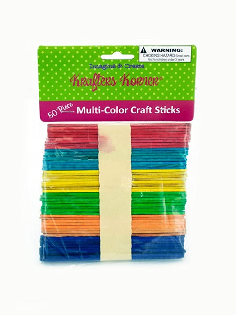 StealStreet SS-KI-CC494 Multi-Color Craft Sticks