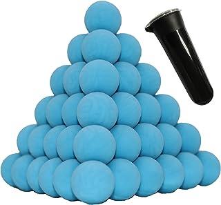 Nylon/PVC Solid Paintballs 100 X .68 Cal riot Paintball Hard Balls - Self Defense paintballs Less Lethal Practice Balls, R...